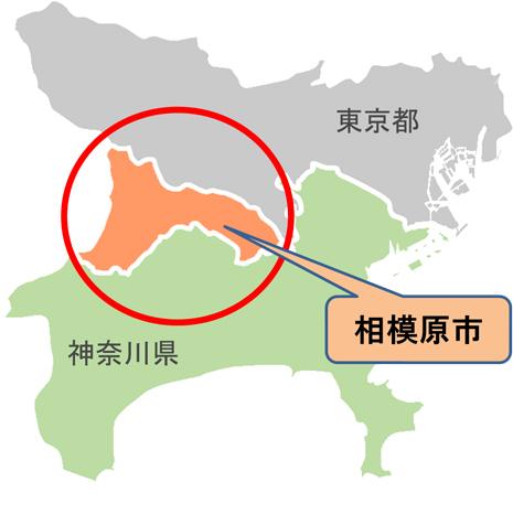 「神奈川県 東京都  地図」の画像検索結果